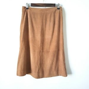 Ann Taylor suede skirt